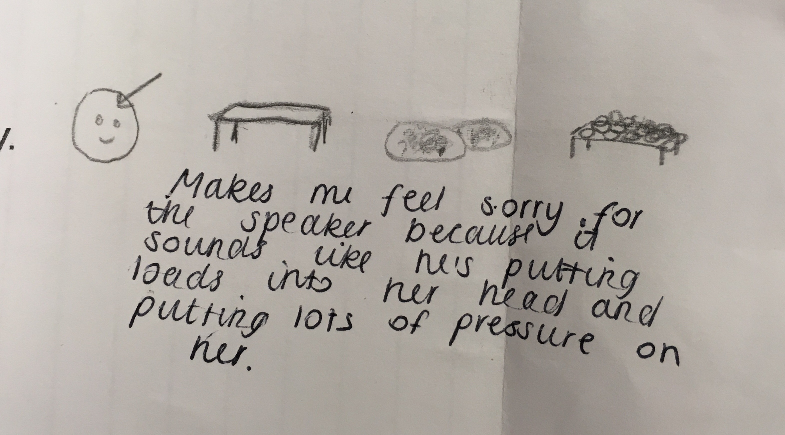 i found the interpretations of my poem really moving and i thought the students were very perceptive i also found it interesting how they managed to create